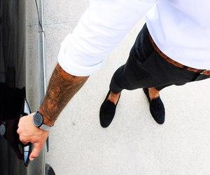 black, fashion, and man image