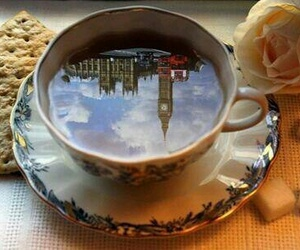 london, tea, and Big Ben image