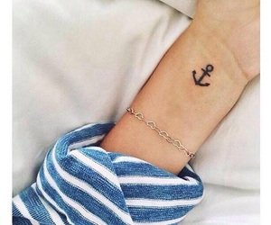tattoo, anchor, and black image
