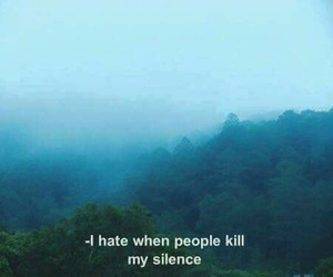 silence, grunge, and quote image