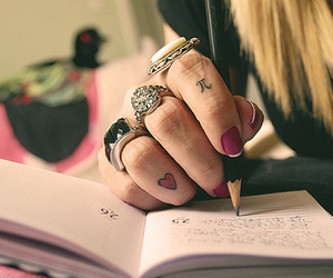 girl, write, and nails image