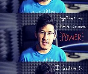 positive quote, markiplier, and youtuber image