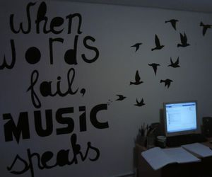 music, bird, and text image
