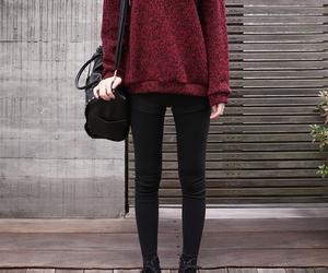 fashion, sweater, and bag image