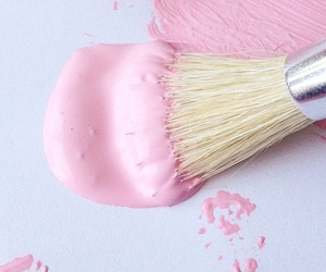 pink, paint, and pastel image