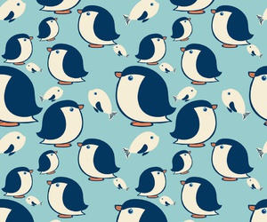 penguin, cute, and blue image