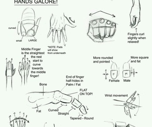 drawing, hands, and tutorial image