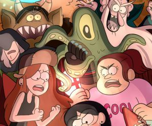 candy, wendy, and gravity falls image