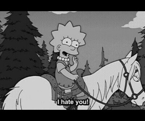 hate and simpsons image