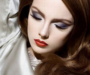 make up, makeup, and red lips image