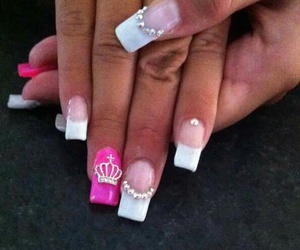 crown, french, and hotpink image