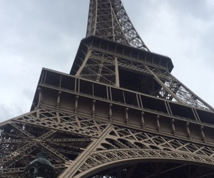 eiffel tower, grey, and paris image