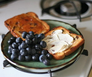 blueberries, breakfast, and food image