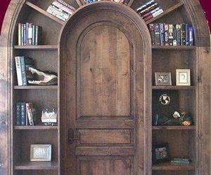 book, door, and bookshelf image