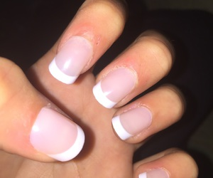beauty, nails, and frenchtip image