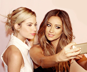 ashley benson, shay mitchell, and pll image