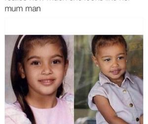 daughter, north west, and kim kardashian image