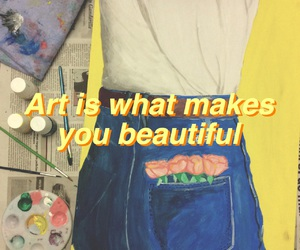 art, yellow, and quotes image