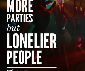 loner, party, and people image