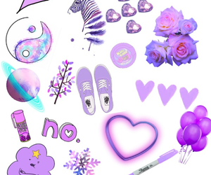 colours, hearts, and lavender image