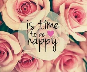 happy, time, and flowers image