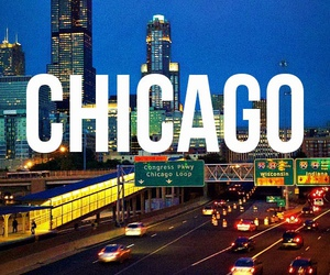 chicago, cities, and city lights image