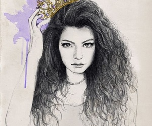 lorde, royal, and drawing image