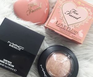 makeup, mac, and too faced image
