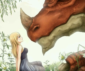 fairy tail, Lucy, and igneel image