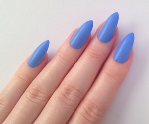 periwinkle, blue, and nails image