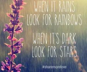 quote, rain, and rainbow image