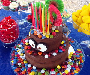 cake, candy, and fiesta image