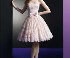 dress, pink, and cocktail dresses image