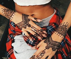 henna, tattoo, and nails image