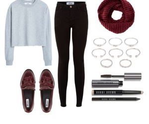 burgundy, casual, and girl image