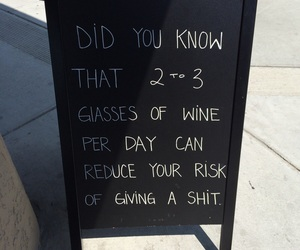 quote, wine, and funny image