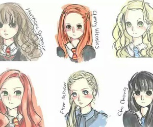 harry potter, girls, and luna lovegood image