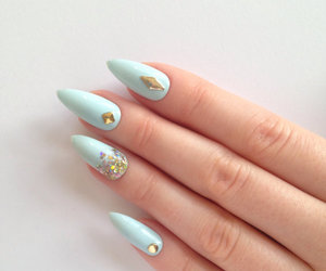 blue, nails, and gold image
