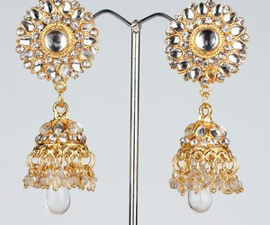 earings, indian jewelry sets, and fashion image