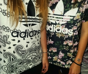 adidas, outfit, and tshirt image