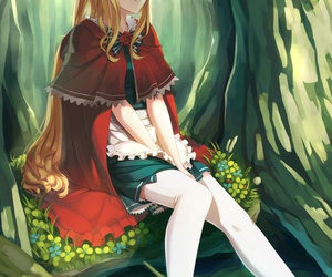 anime and red riding hood image