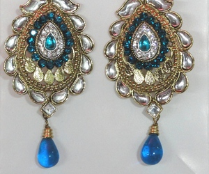 earings, indian jewelry sets, and Indian Jewelry image