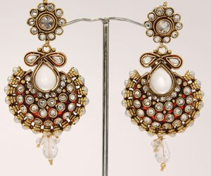 earings, fashion, and Indian Jewelry image