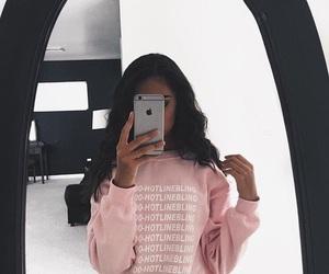 pink, Drake, and iphone image