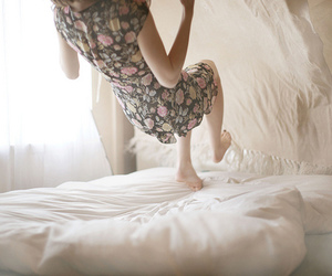 bedsheets, fall, and floral image