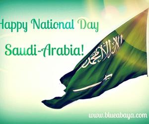 السعوديه, اليوم الوطني, and العلم image
