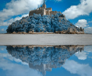 blue, castle, and sky image