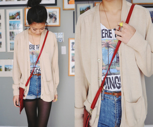 asian fashion, cardigan, and lookbook.nu image