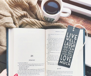 book, coffee, and eleanor and park image