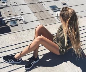 girl, hair, and adidas image